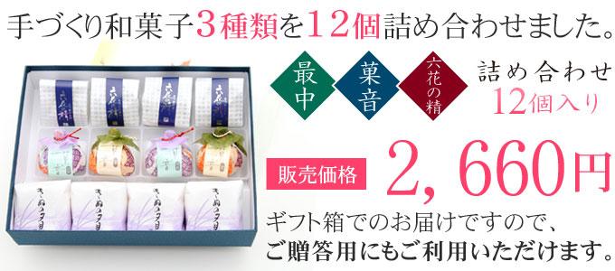 最中・菓音・六花の精詰め合わせ12