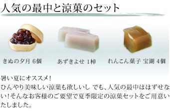 人気の最中と涼菓のセット